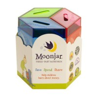 Moonjar Classic Moneybox: Save, Spend, Share