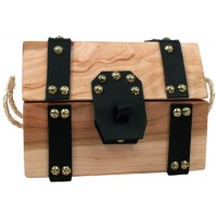 Cherry Wood Treasure Chest