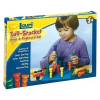 Tall Stacking Pegs and Pegboard