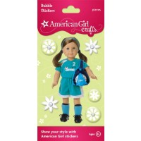 American Girl Soccer Stickers