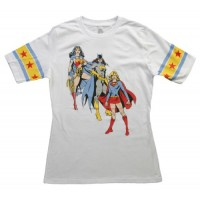 DC Comics Female Superheroes Hockey Style T-Shirt