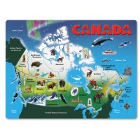 Canada Map Wooden Jigsaw Puzzle