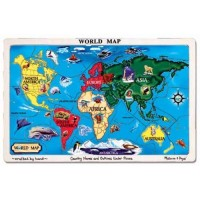 World Map Wooden Jigsaw Puzzle