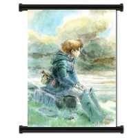 Nausicaa Of The Valley Of The Wind Plains Fabric Wall Scroll