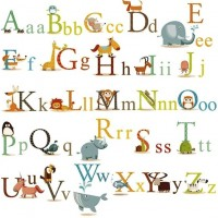 Animals Alphabet Wall Decals