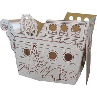 Box Creations Pirate Ship with Markers
