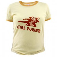 Girl Power Kicking Girl T-Shirt
