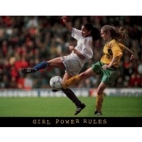 Girl Power Rules Soccer Motivational Poster Print