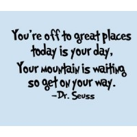 Dr. Seuss Quote (You're off to great places...) - Vinyl Wall Art