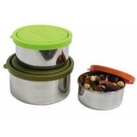 Kids Konserve Stainless Steel Containers with Leak-Proof Lids: Nesting Trio