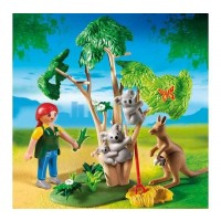 Koala Tree with Kangaroo