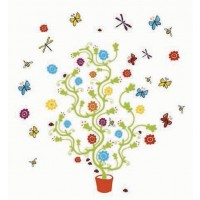Magic Trees and Bees Wall Decals