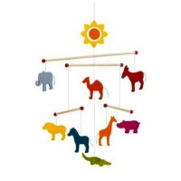 Wooden Animals Mobile