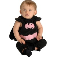 Deluxe Black and Pink Batgirl Bib