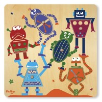 Surprise Pictures 6-Piece Robots Puzzle