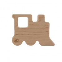 Natural Wood Train Teether