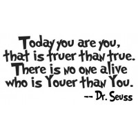 Dr. Seuss Quote (Today you are...) - Vinyl Wall Art